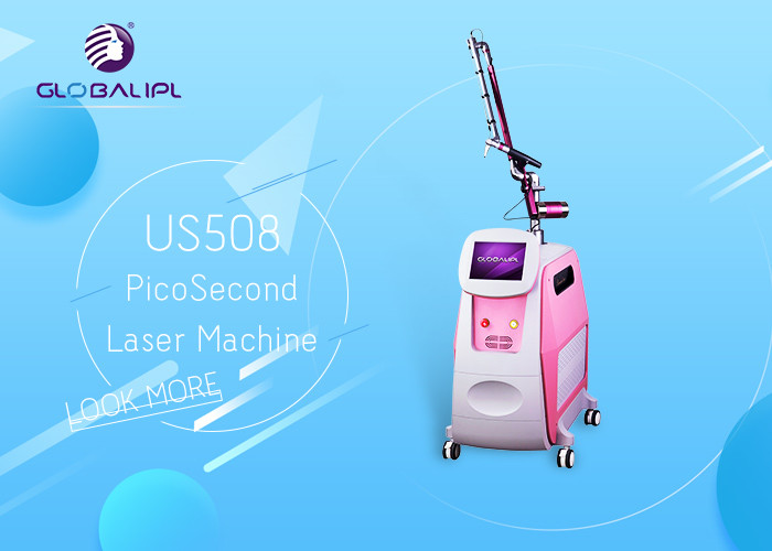 Pico Laser ND YAG Laser Machine Tattoo Removal Skin Therapy 1064nm / 532nm